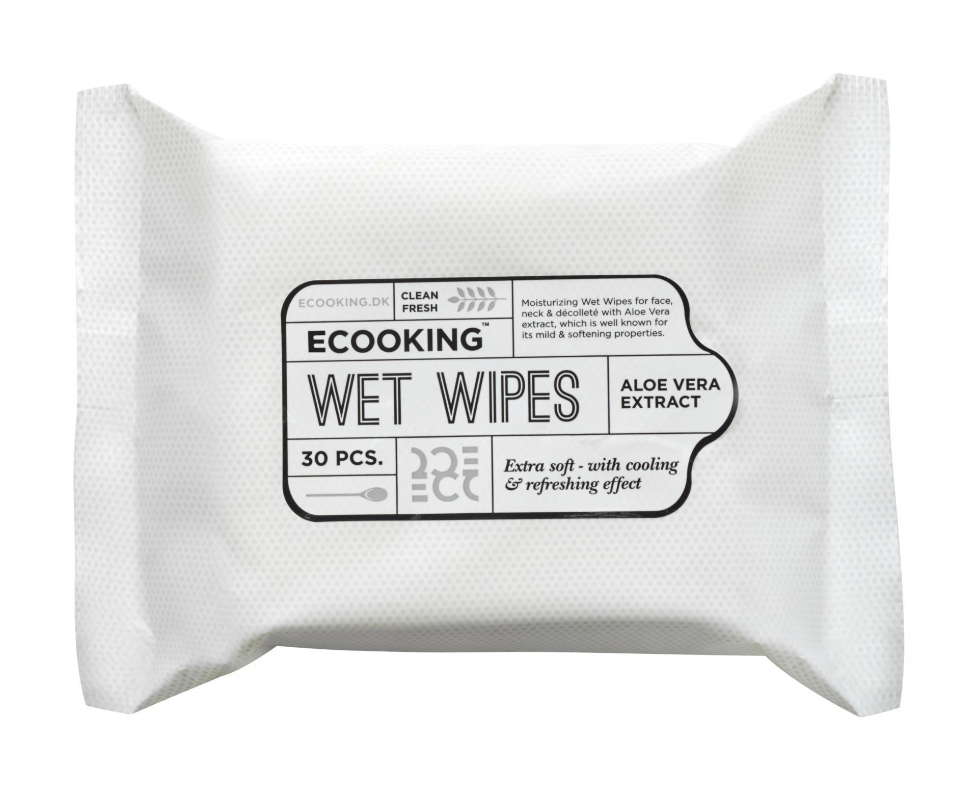 ECOOKING Osvěžující vlhčené ubrousky Ecooking, bílá barva