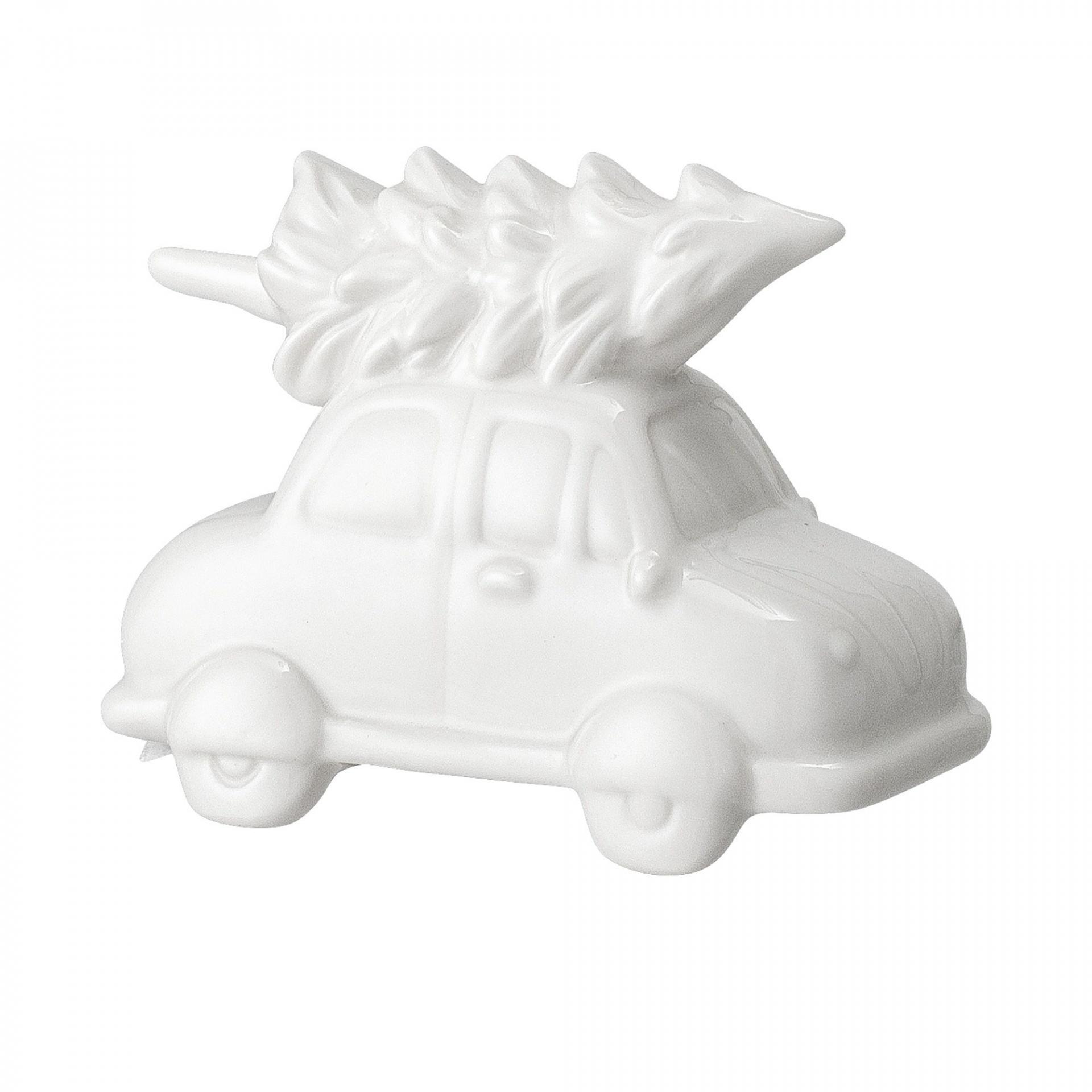 Bloomingville Porcelánové autíčko White, bílá barva, porcelán