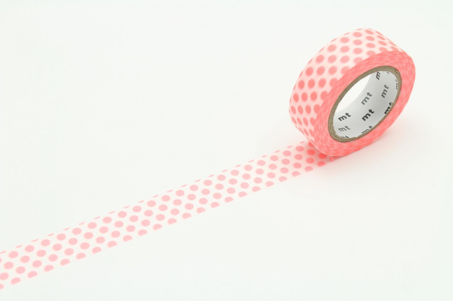 mt Japonská papírová páska Dot Shocking Red b1530165cb