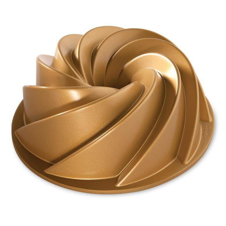 Nordic Ware Hliníková forma na bábovku Gold Heritage ⌀ 26 cm, zlatá barva, stříbrná barva, kov