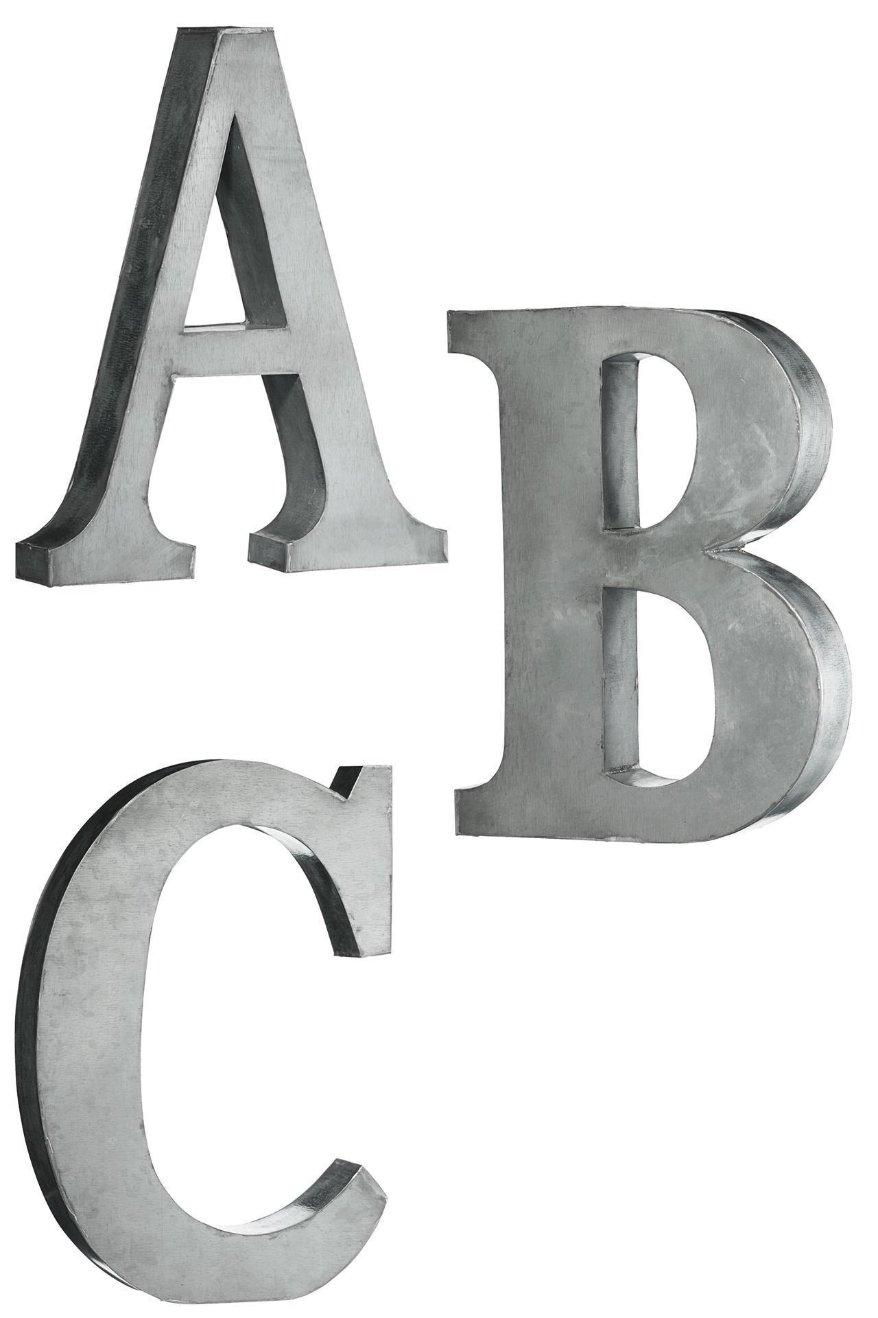 Madam Stoltz Plechová písmena set ABC