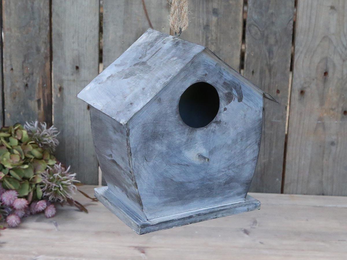 Chic Antique Ptačí budka Antique Zinc, šedá barva, zinek