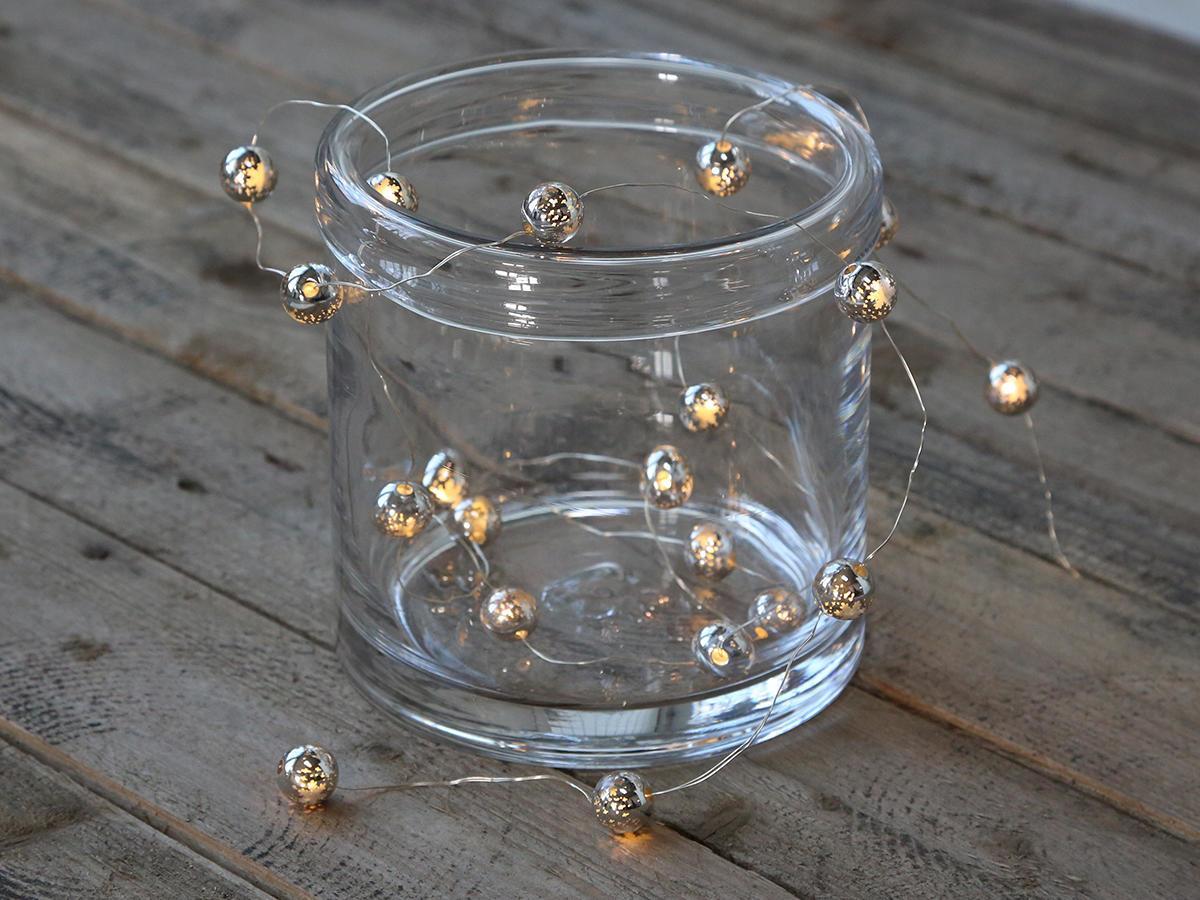 Chic Antique LED světelný řetěz Silver Look 220 cm, stříbrná barva, plast