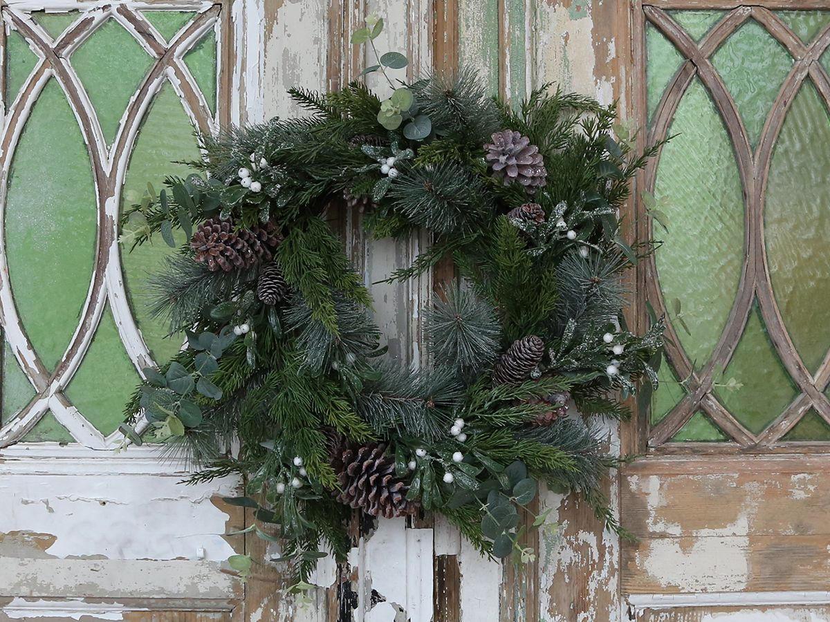 Chic Antique Adventní věnec Pine 66cm, zelená barva, plast