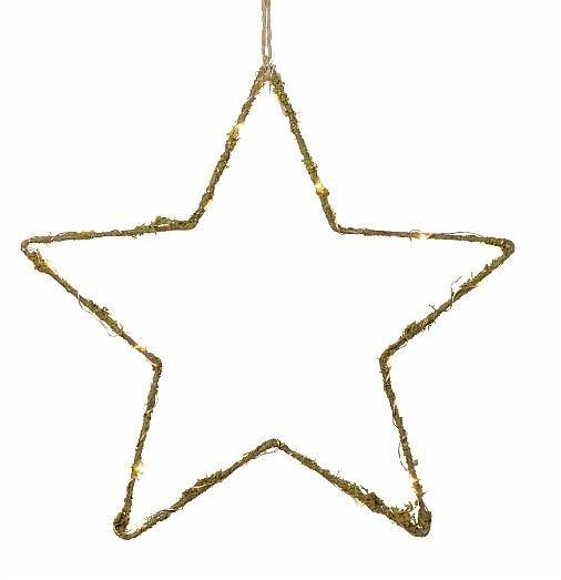 watt & VEKE Vánoční světelná dekorace Amy Star, přírodní barva, kov
