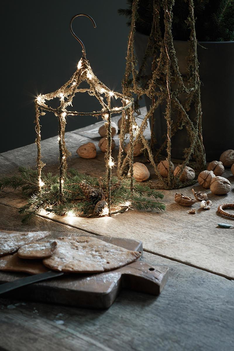 watt & VEKE Vánoční světelná dekorace Hubert, přírodní barva, kov