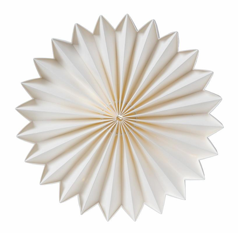 watt & VEKE Svítící LED dekorace Julius 25 cm, bílá barva, plast, papír