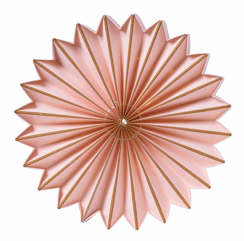 watt & VEKE Svítící LED dekorace Juliette Blush 25 cm, růžová barva, plast, papír