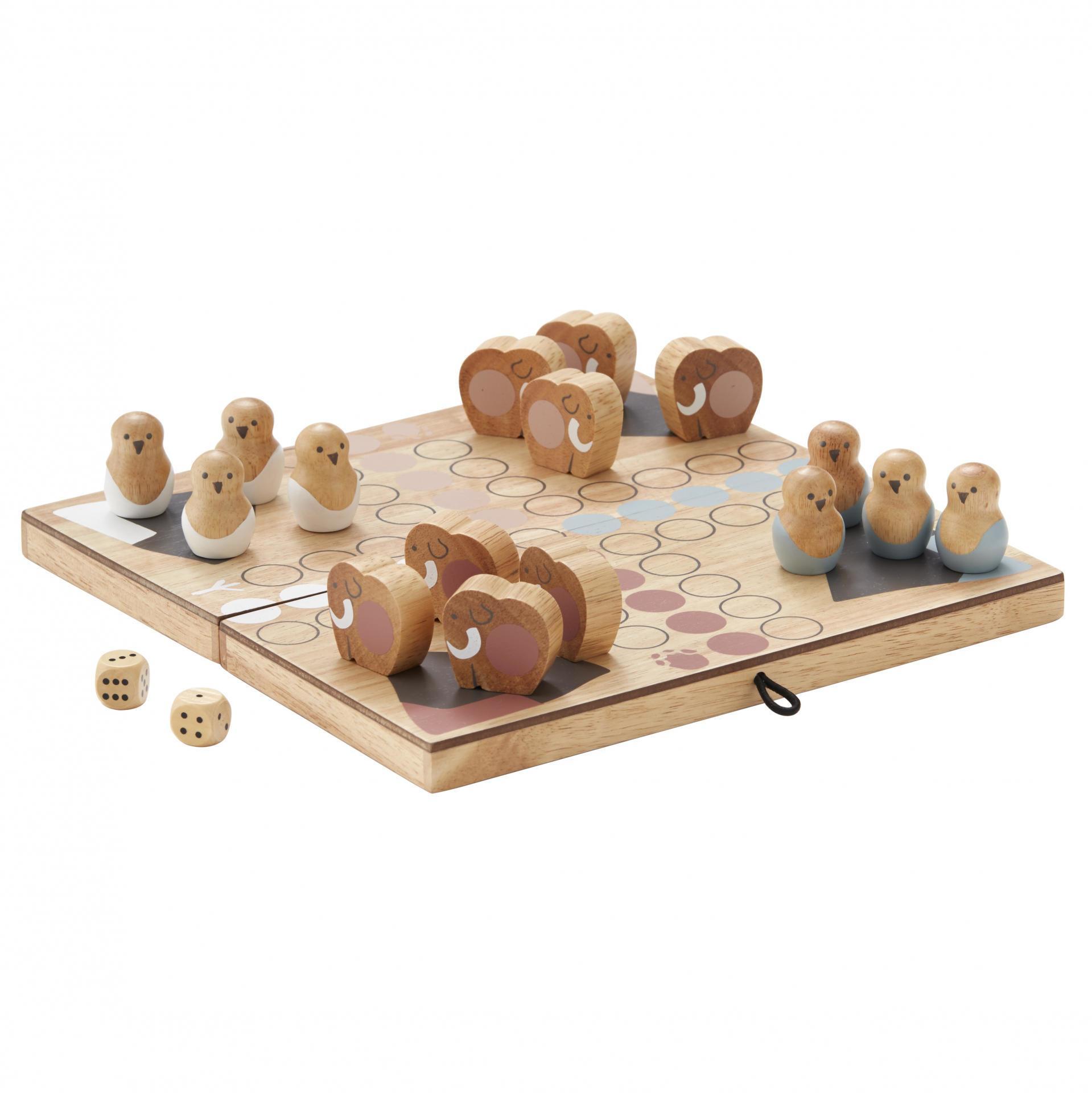 Kids Concept Dřevěná hra Člověče, nezlob se! Neo, hnědá barva, přírodní barva, dřevo