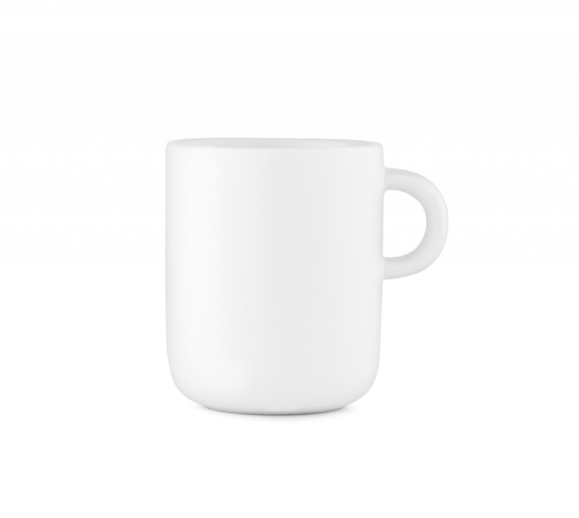 normann COPENHAGEN Porcelánový hrnek Bliss White, bílá barva, porcelán
