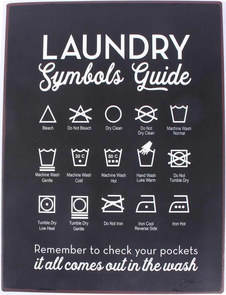 bc8cf6db58b La finesse   Plechová cedule Laundry Guide