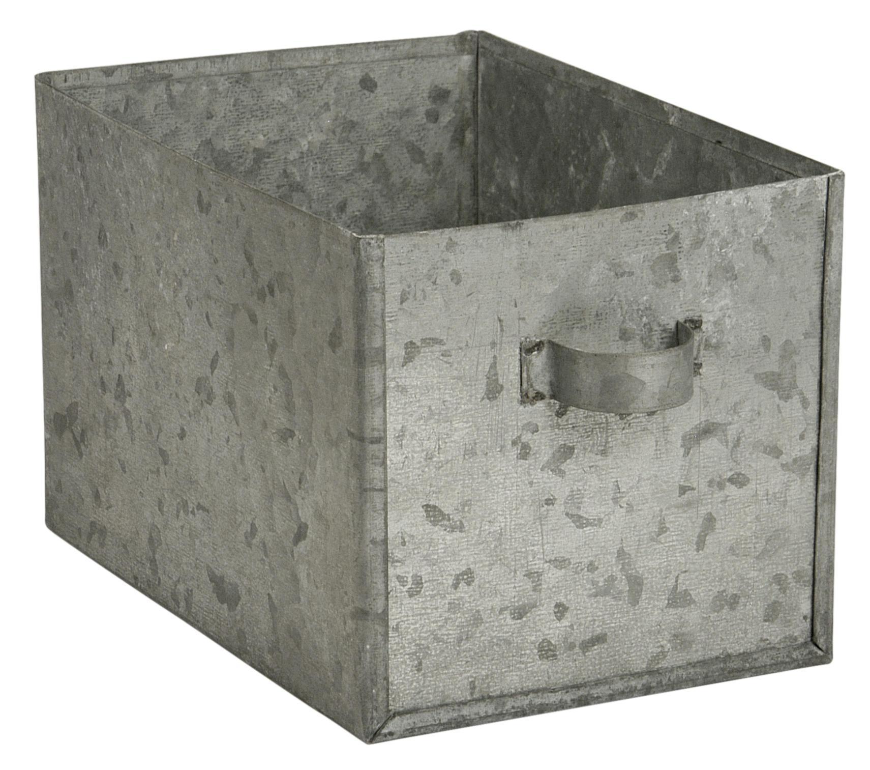 IB LAURSEN Zinkový šuplíček, šedá barva, zinek
