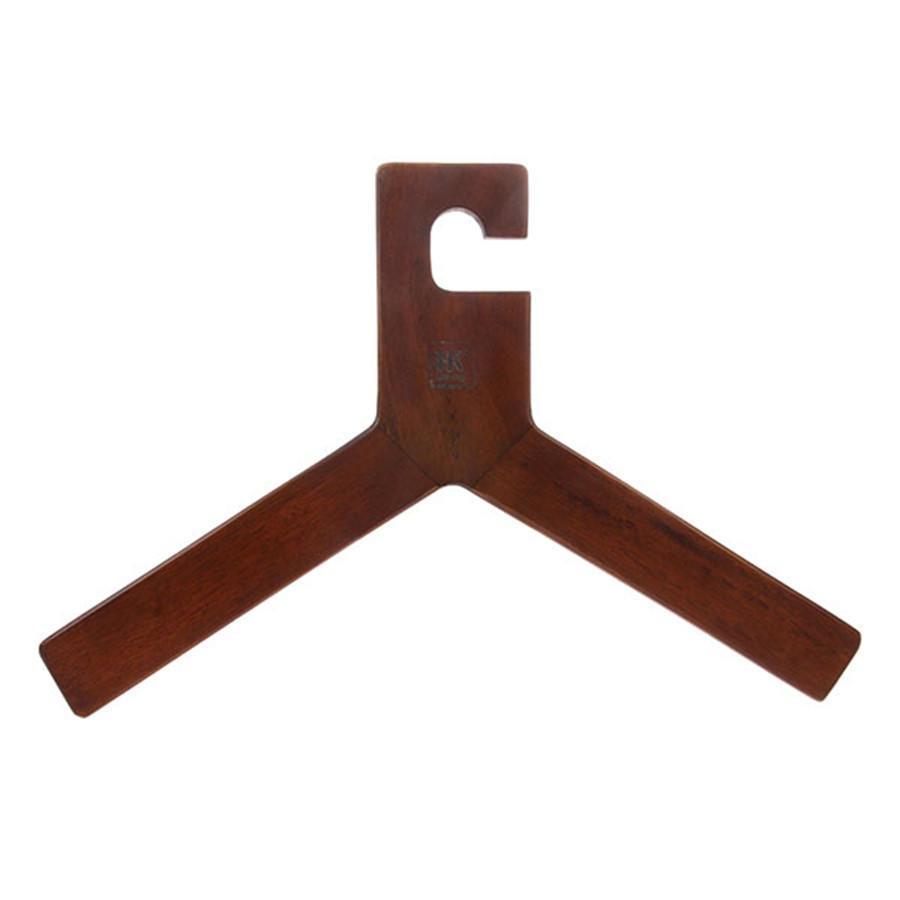 HK living Dřevěné ramínko na šaty Wood, hnědá barva, dřevo