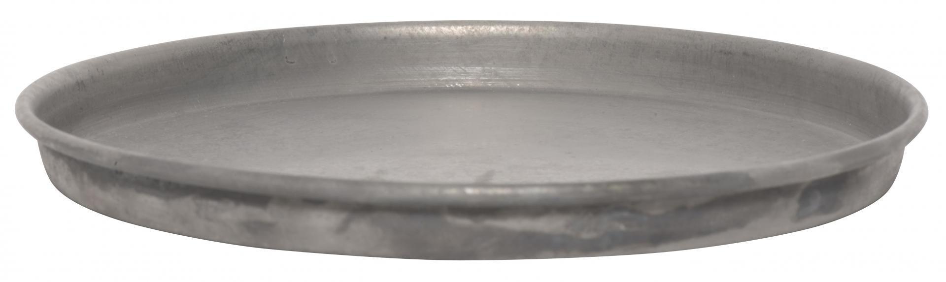 IB LAURSEN Zinkový kulatý tác Grey 16cm, šedá barva, zinek