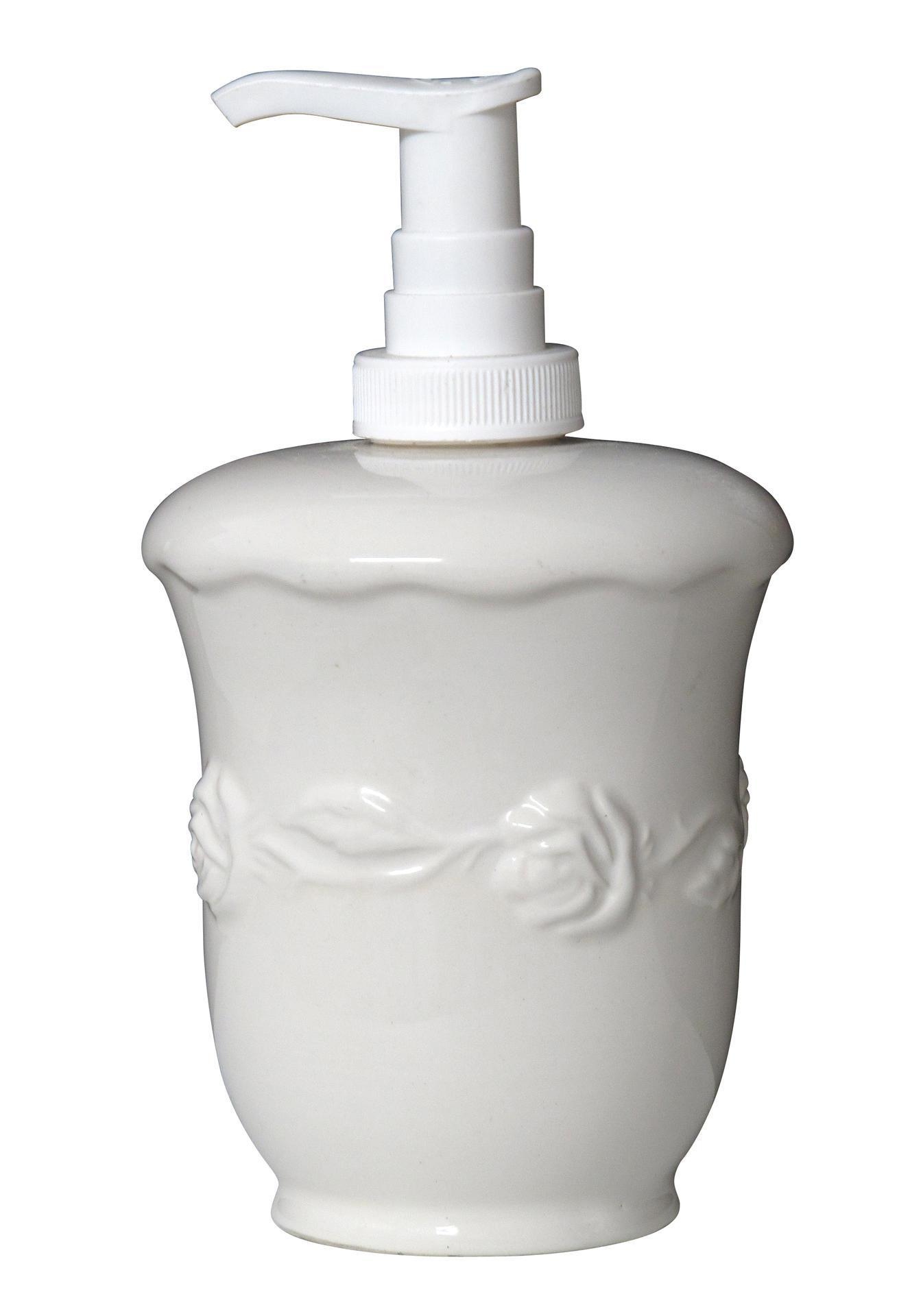 IB LAURSEN Porcelánový zásobník na mýdlo Rose, bílá barva, porcelán