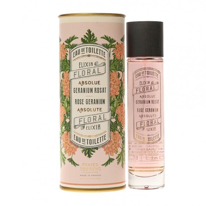 Panier des Sens Toaletní voda Rose Geranium 50 ml, multi barva, sklo, kov, papír - Panier des Sens