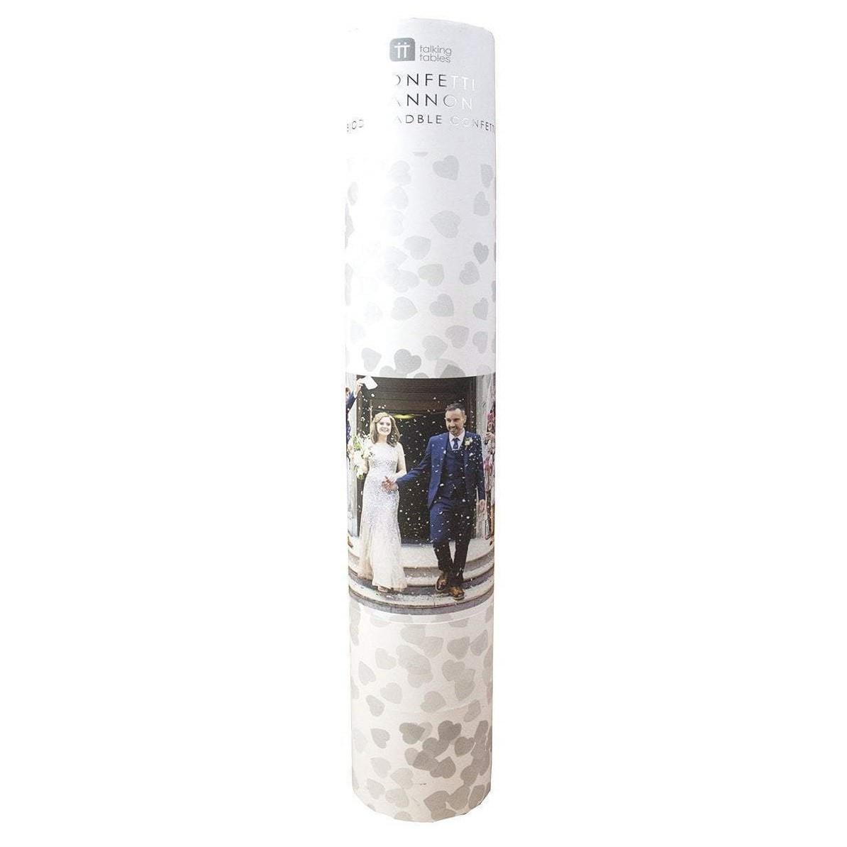 Talking Tables Dělo na konfety Confetti Cannon, bílá barva, papír