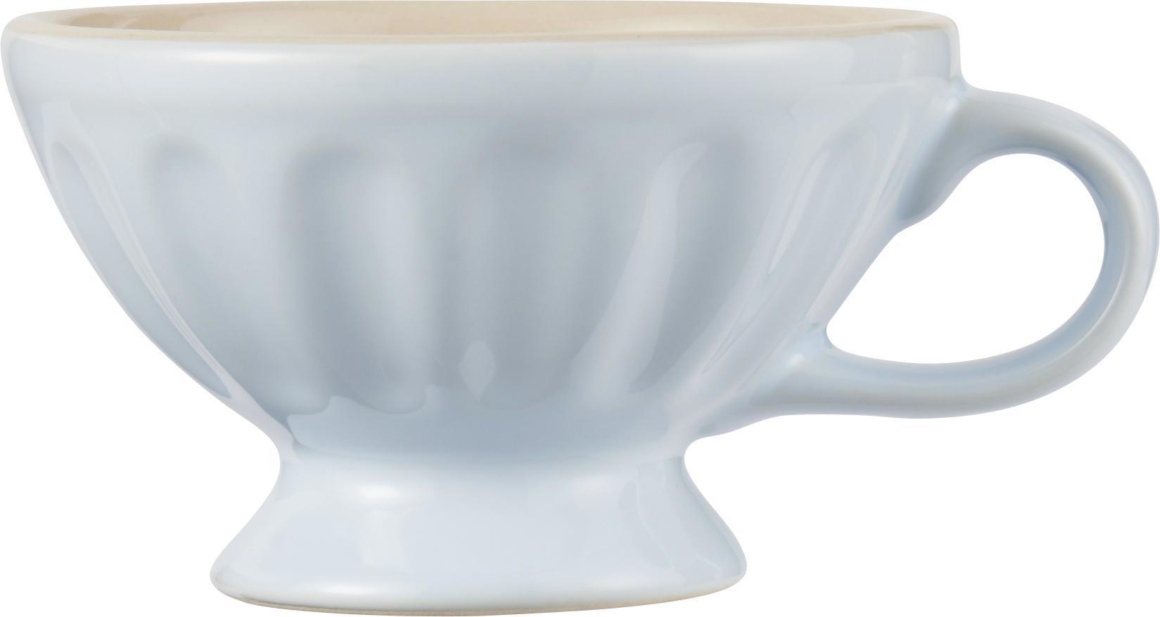 IB LAURSEN Hrneček Jumbo Mynte Stillwater, modrá barva, keramika