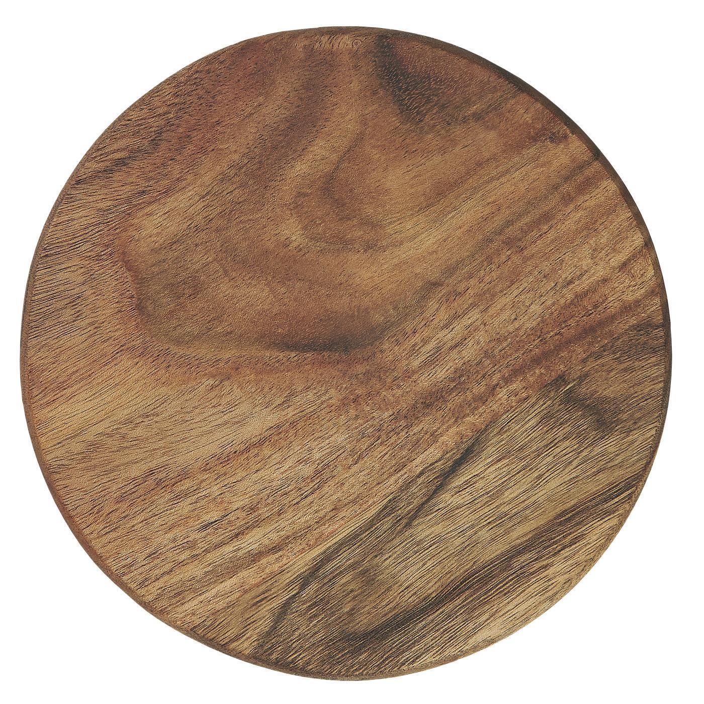 IB LAURSEN Kulaté krájecí prkénko Round Accacia Wood, hnědá barva, dřevo