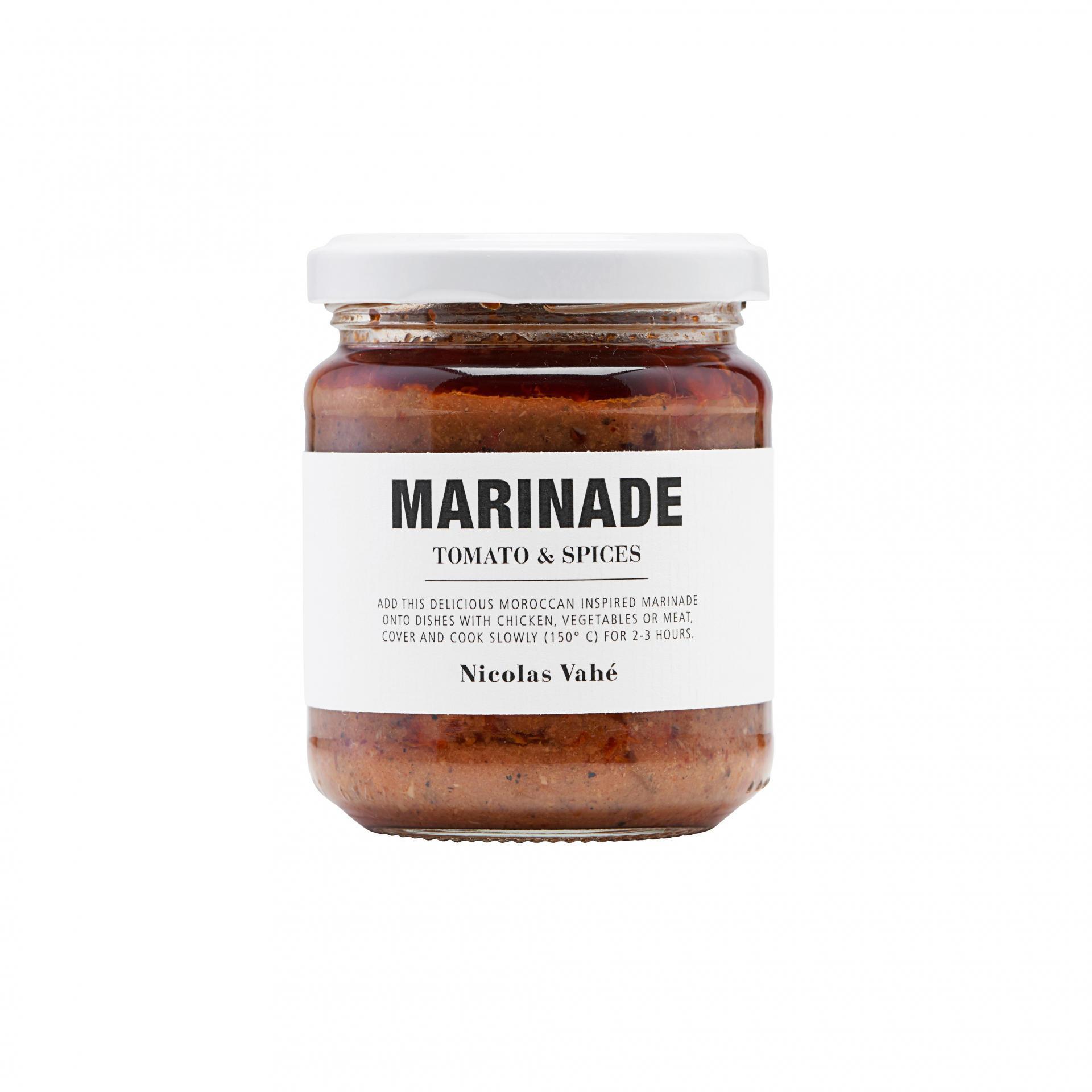 Nicolas Vahé Marináda Tomato & Spices 200g, multi barva, sklo, kov