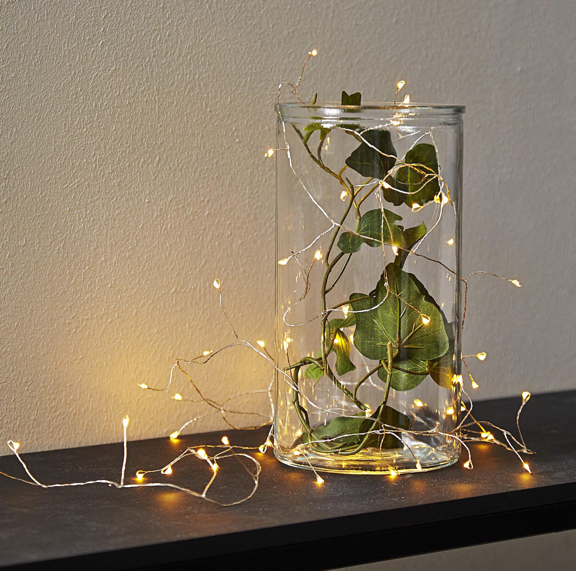 STAR TRADING LED světelný řetěz Light String, žlutá barva, kov, plast