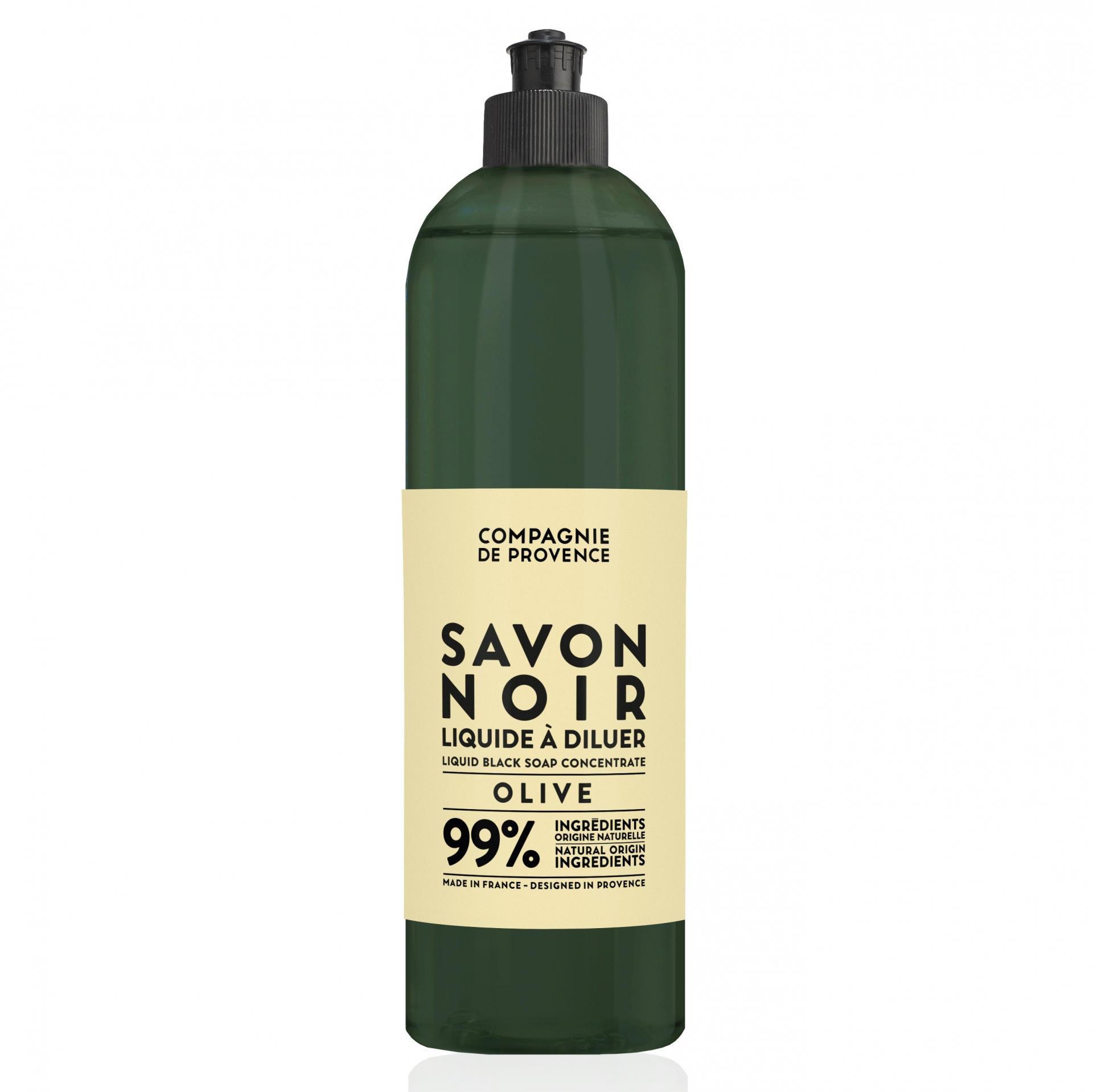 COMPAGNIE DE PROVENCE Tekuté černé mýdlo Oliva 500 ml, zelená barva, plast