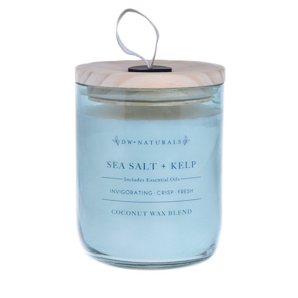 dw HOME Vonná svíčka Mořská sůl a řasa 500g, zelená barva, sklo, vosk