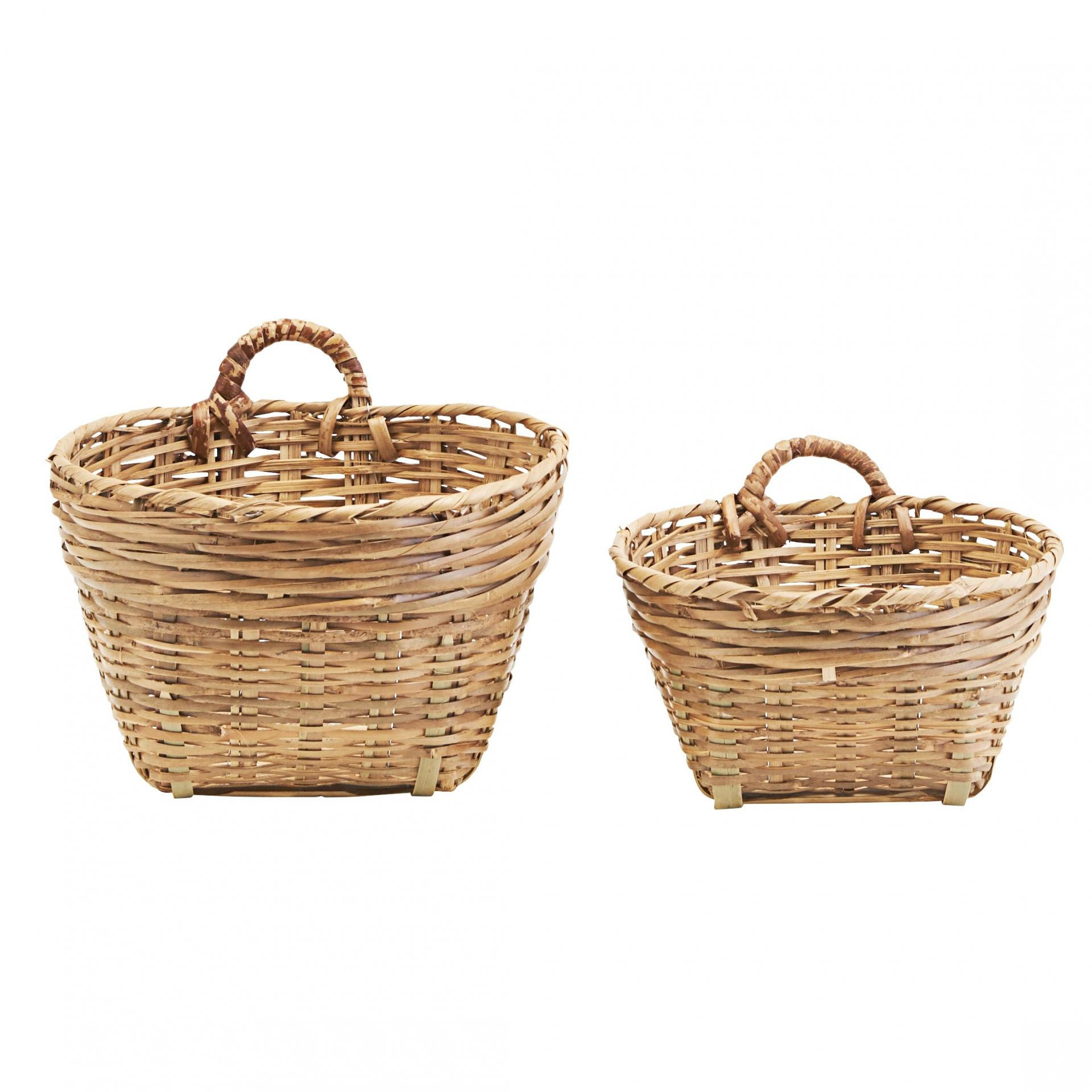 meraki Proutěný košík Tradition Menší, hnědá barva, přírodní barva, proutí