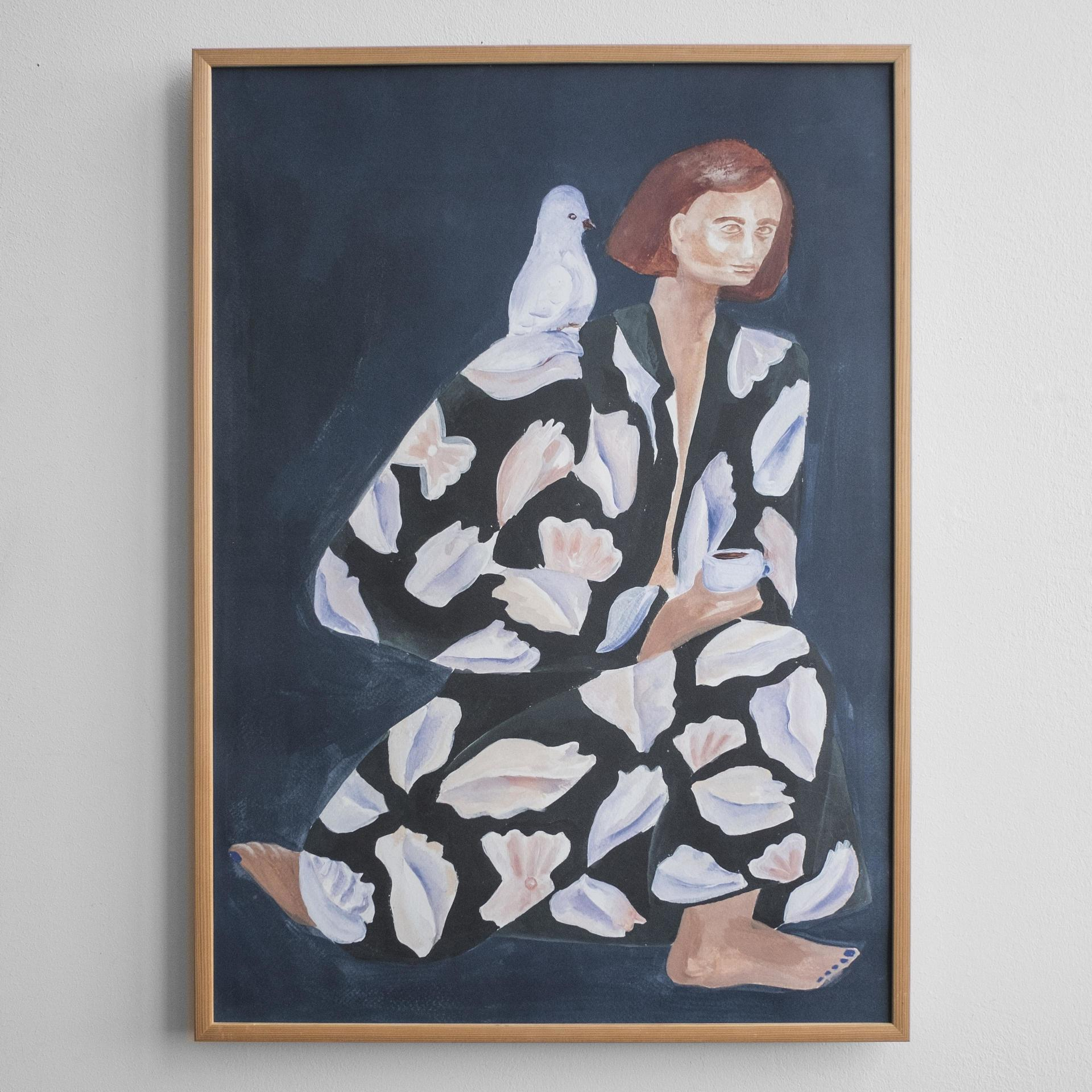 Fine Little Day Autorský plakát Skrud Snäcka by Sofia Lind 50x70 cm, modrá barva, papír