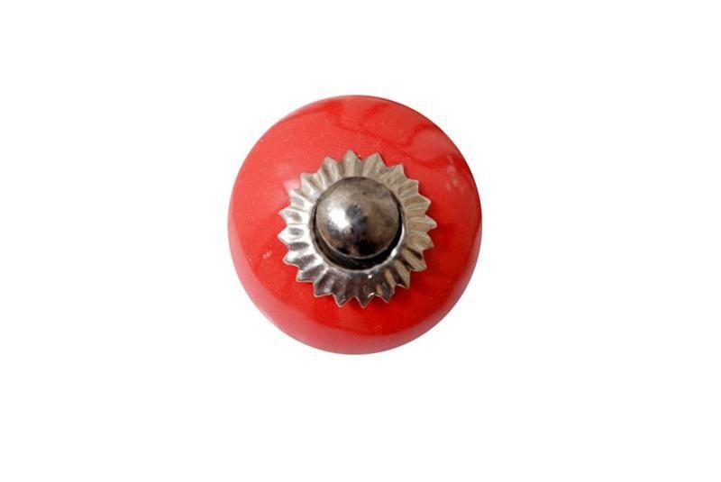 La finesse Porcelánová úchytka red small, červená barva, porcelán