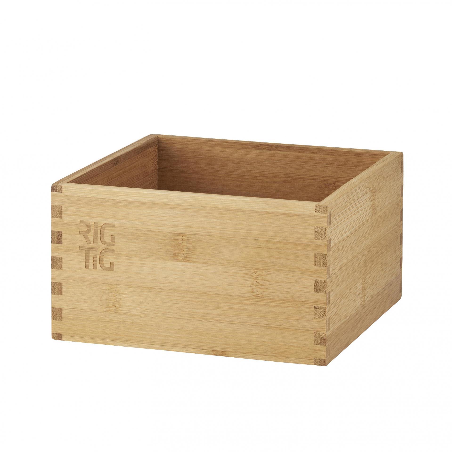 RIG-TIG Bambusový box Woodstock - menší, hnědá barva, přírodní barva, dřevo