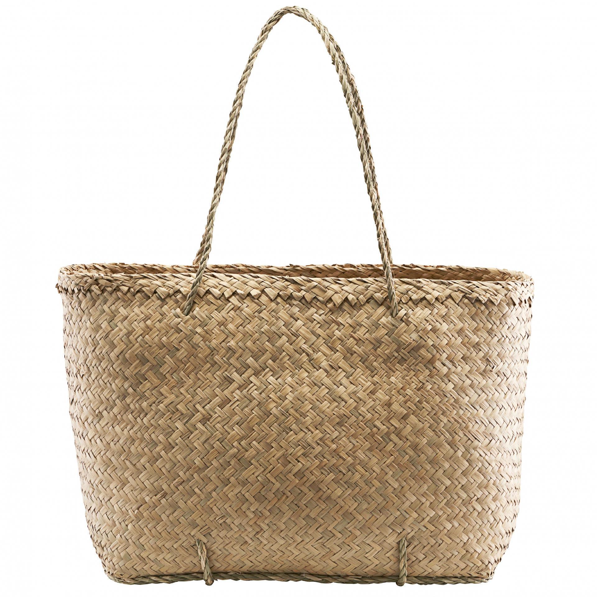House Doctor Úložná taška z mořské trávy Tanger, přírodní barva, proutí