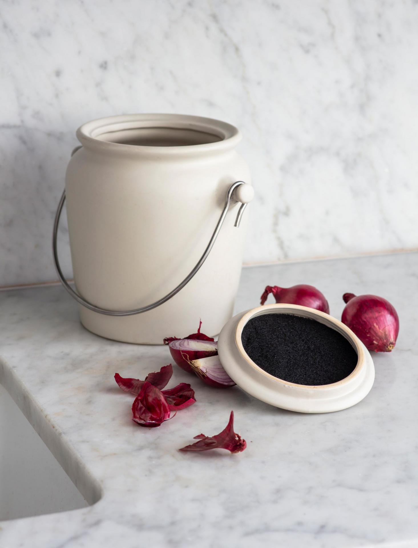 Garden Trading Keramická nádoba na kompost, béžová barva, keramika
