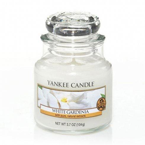 Yankee Candle Svíčka Yankee Candle 104g - White Gardenia, bílá barva, sklo, vosk