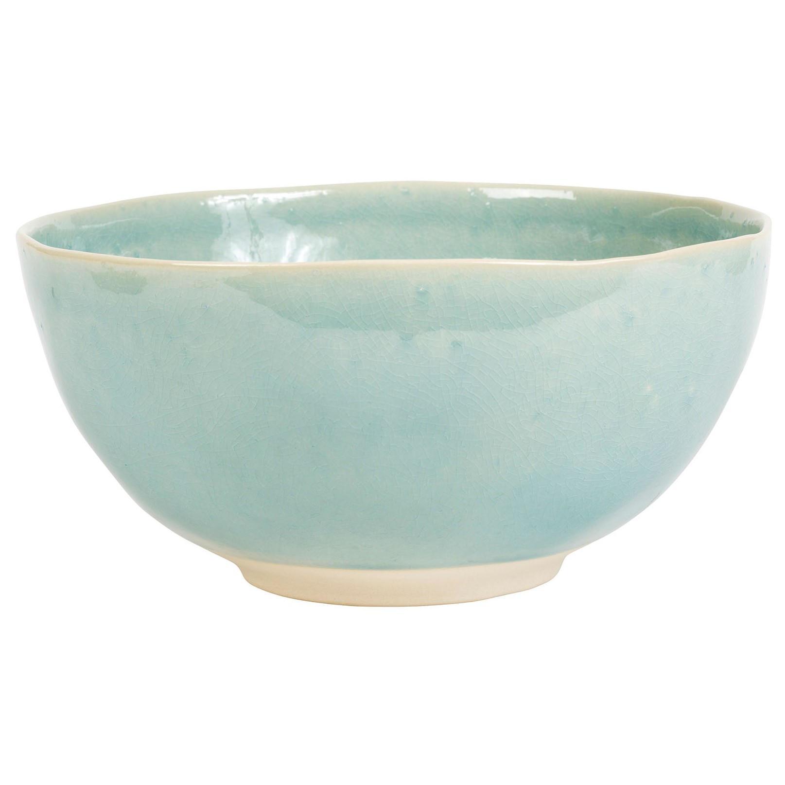 CÔTÉ TABLE Keramická mísa Ingrid Turquoise ⌀ 26 cm, zelená barva, keramika