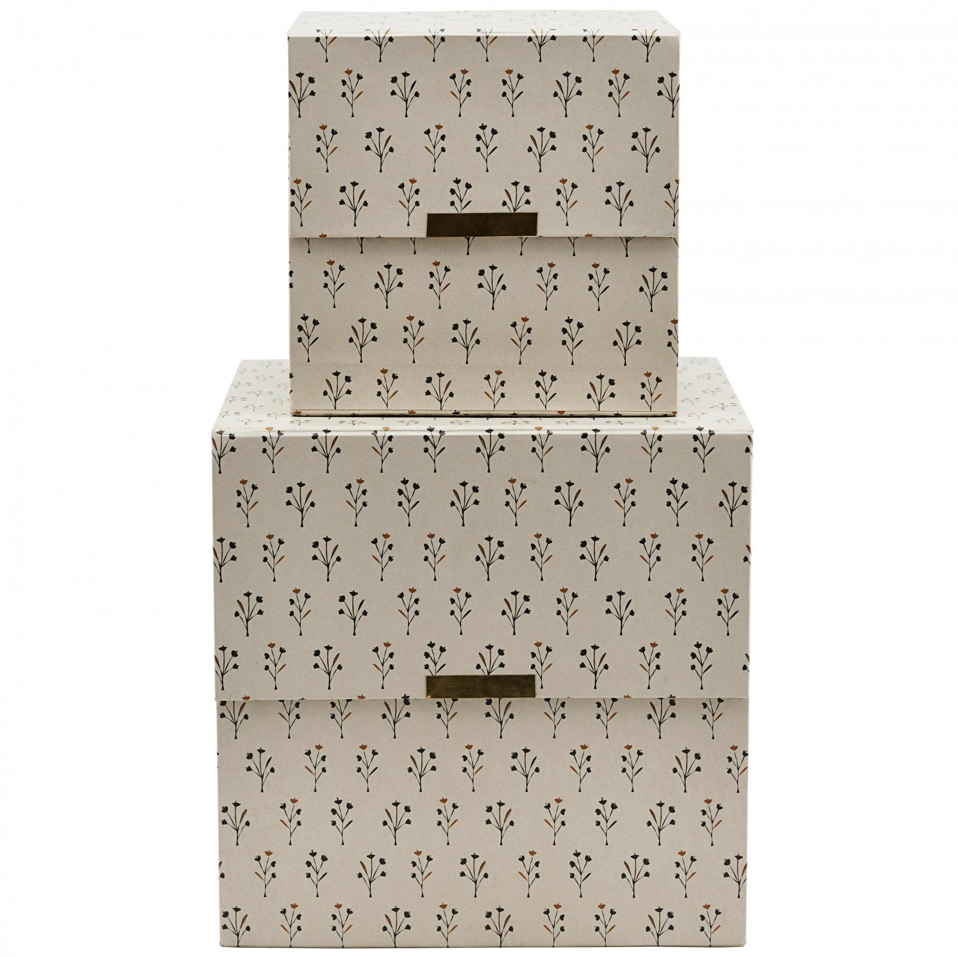 3b11bdb68 House Doctor / Úložný box Floral Beige