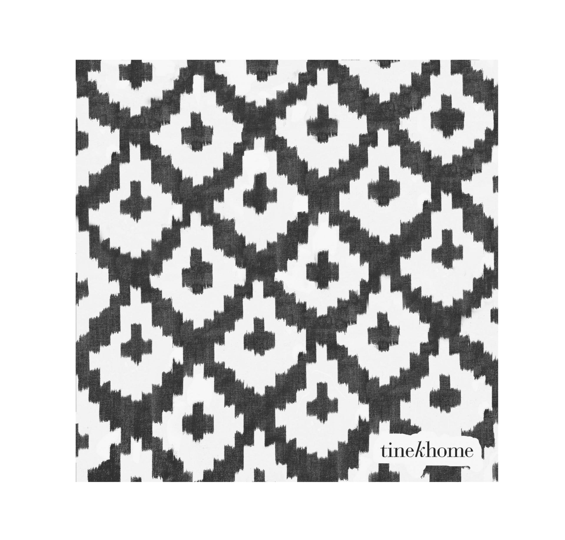 Tine K Home Papírové ubrousky Phantom 50ks, černá barva, bílá barva, papír