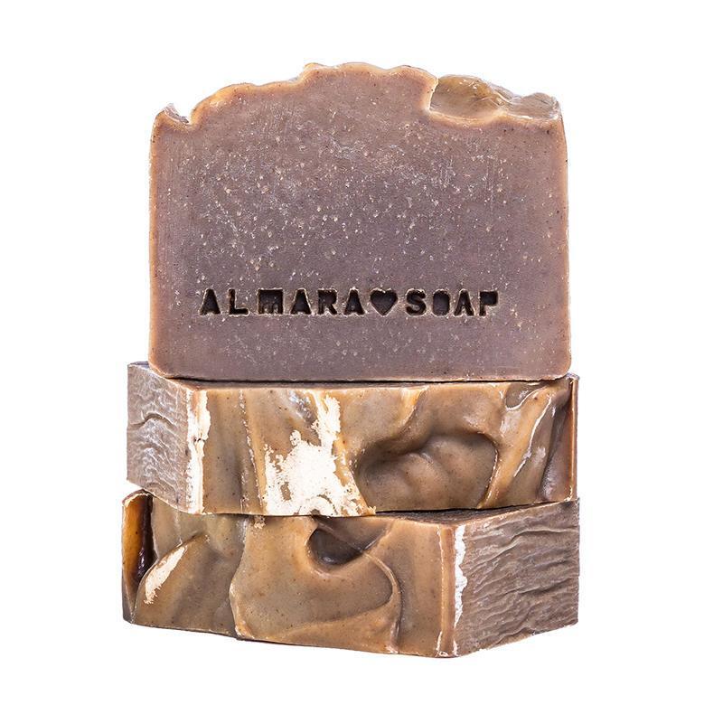 Almara Soap Přírodní tuhý šampon New Hair, hnědá barva