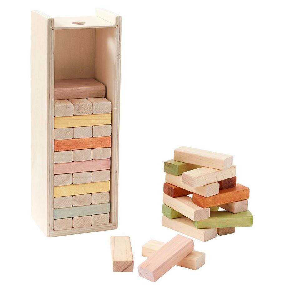Kids Concept Dřevěné kostky Building Blocks, multi barva, dřevo