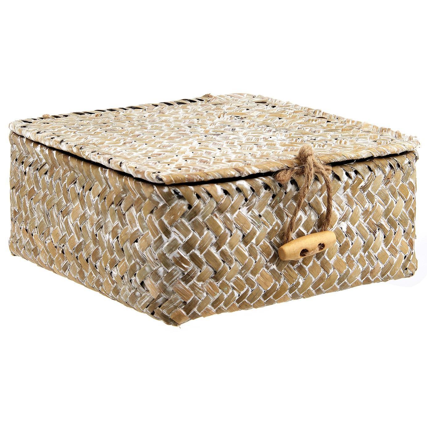 1da2d3821 sass & belle Slaměný úložný box Boho Straw, béžová barva, proutí