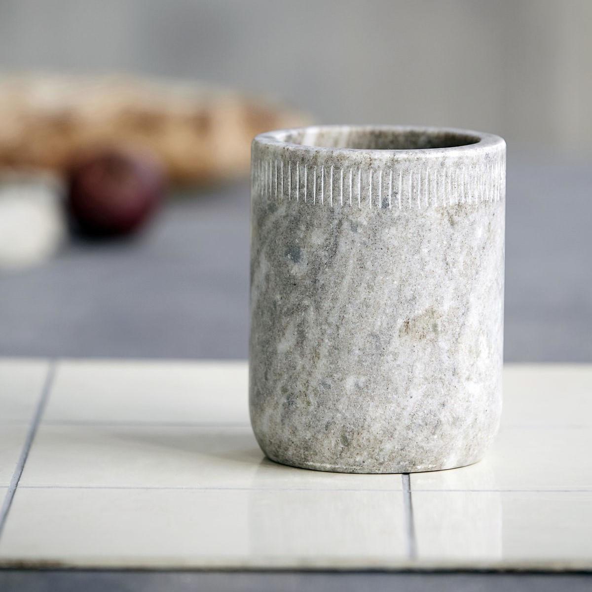 Nicolas Vahé Mramorová nádoba Marble, béžová barva, mramor