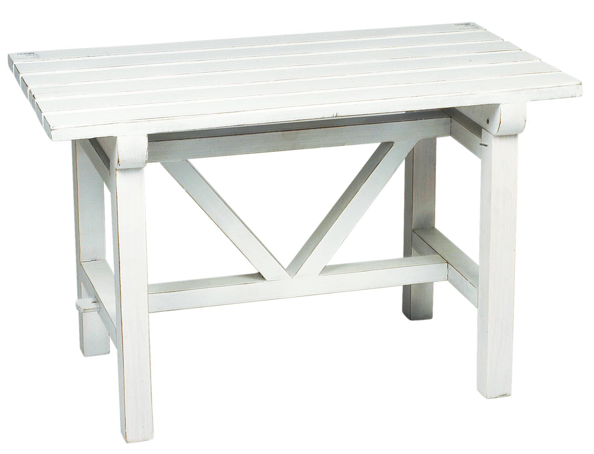 Dřevěná lavička bílá