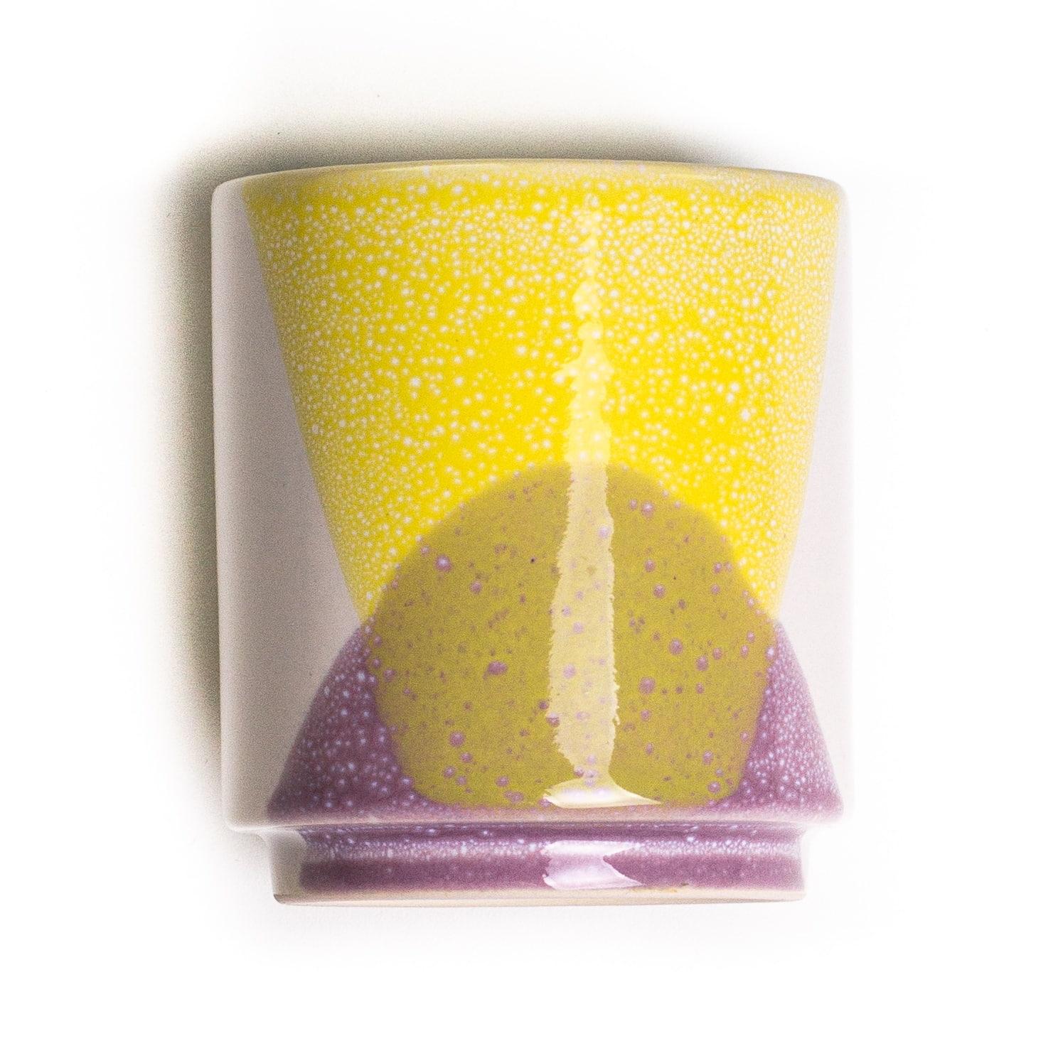 HK living Keramický hrneček 80's Lilac & Yellow, multi barva, keramika