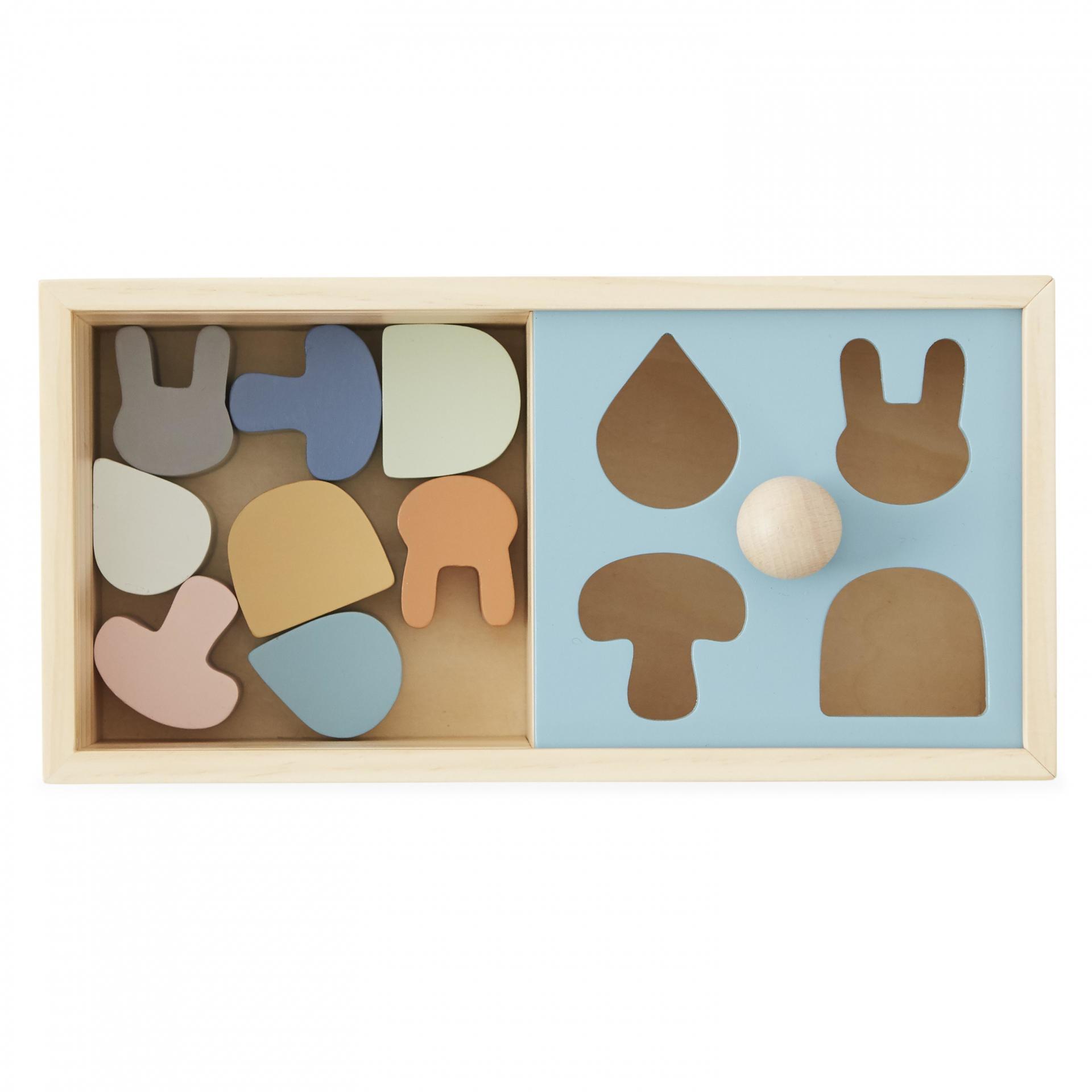 OYOY Dětské puzzle z bukového dřeva Colorful Shapes, multi barva, dřevo