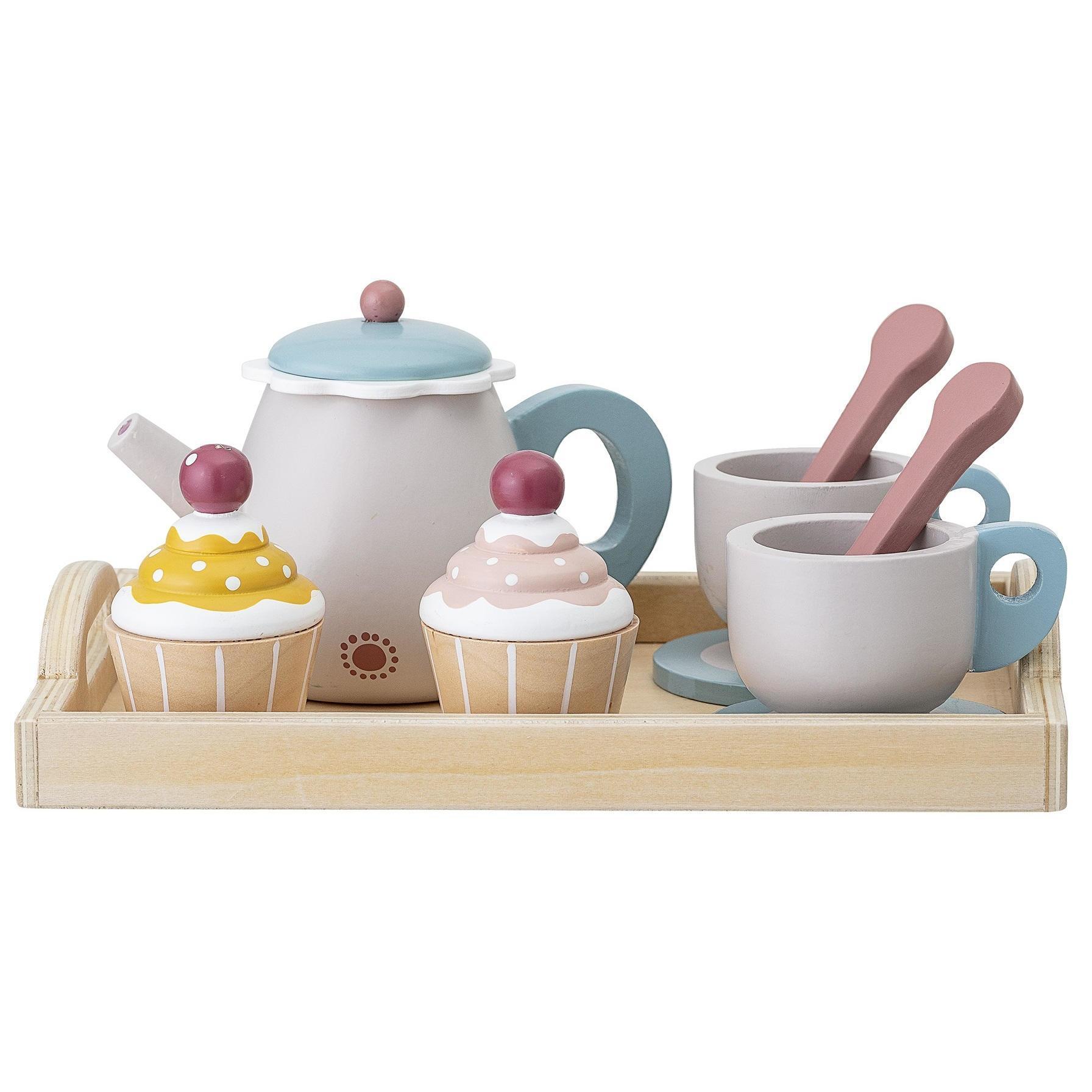 Bloomingville Dřevěná hračka - čajová sada, multi barva, dřevo