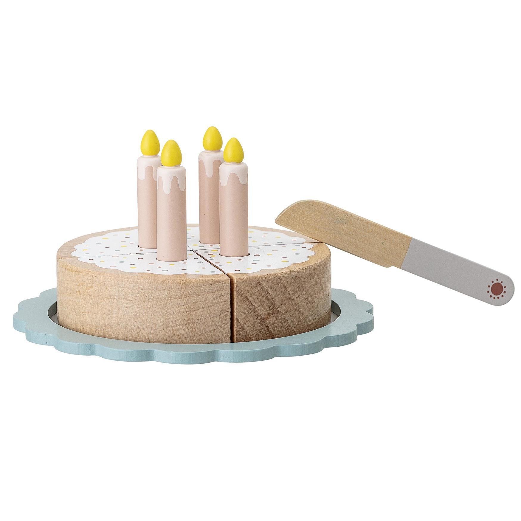 Bloomingville Dřevěná hračka - narozeninový dort, multi barva, dřevo