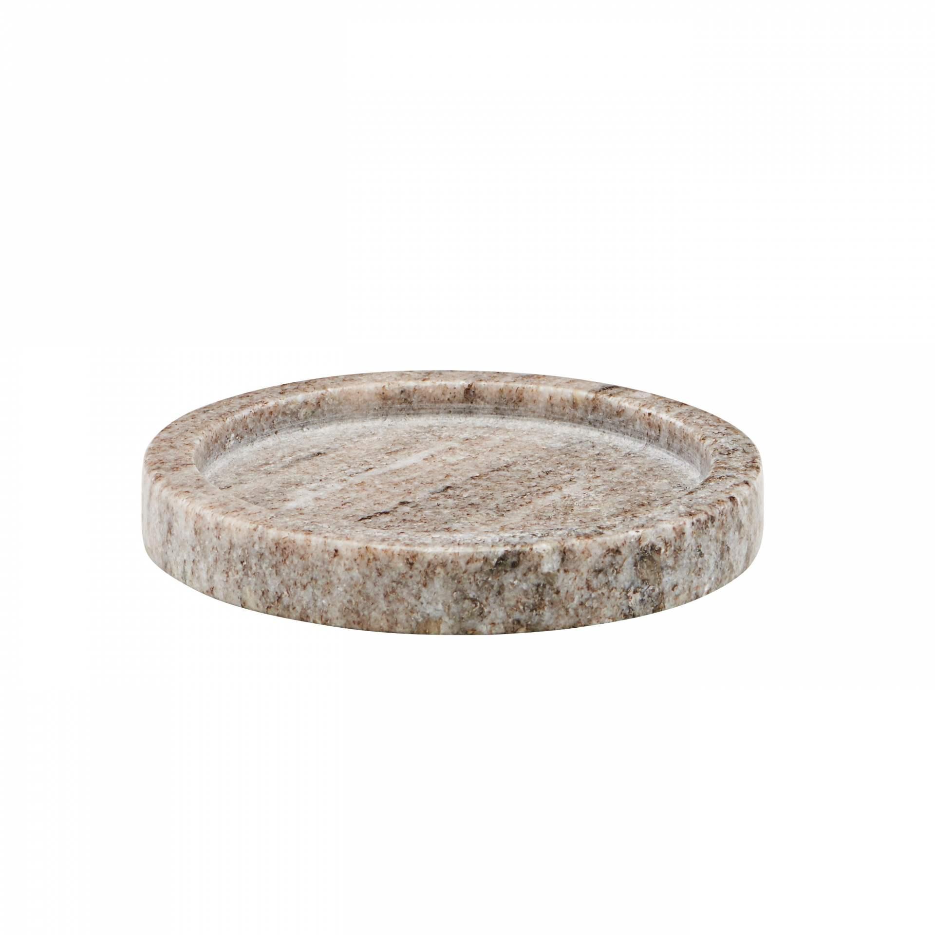meraki Mramorový tácek Beige 12,5cm, béžová barva, mramor