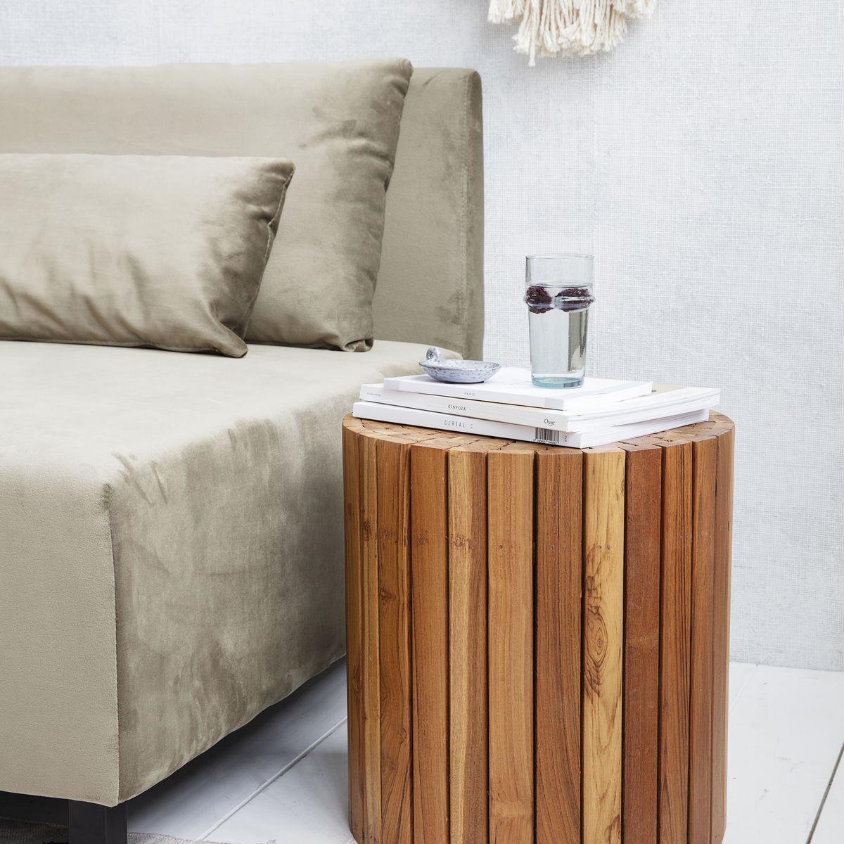 House Doctor Dřevěný stolek Teaky Nature, přírodní barva, dřevo