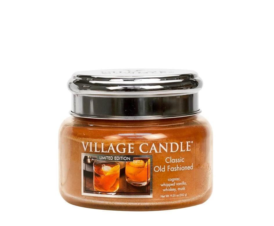 VILLAGE CANDLE Svíčka Village Candle - Classic Old Fashioned 262g, oranžová barva, sklo