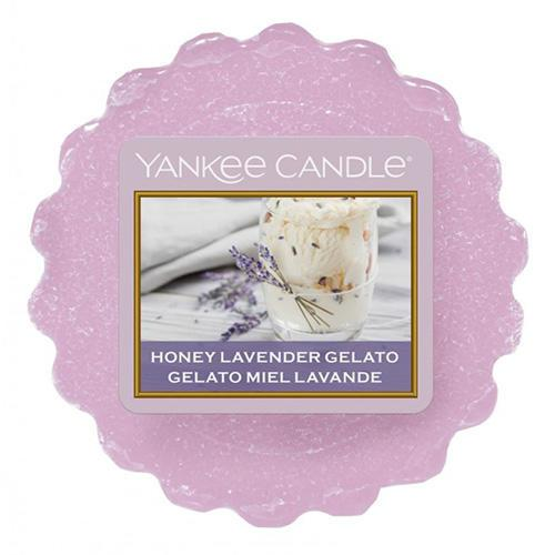 Yankee Candle Vosk do aromalampy Yankee Candle - Honey Lavender Gelato, fialová barva, vosk